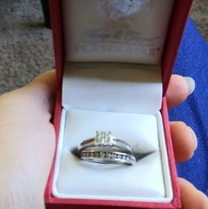 Women's Sterling Silver diamond wedding rings